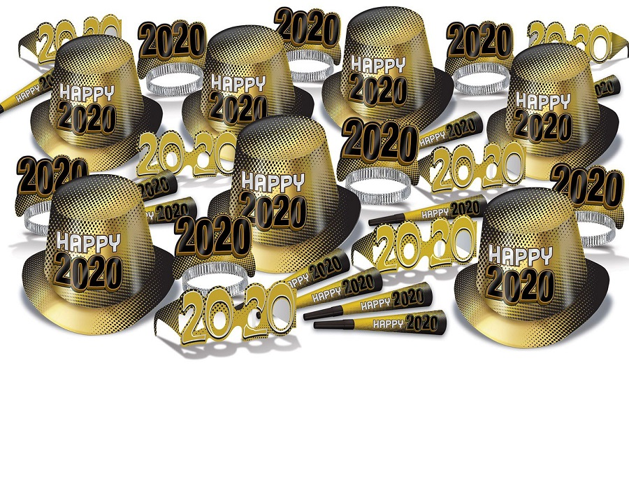 2020 Gold New Year's Eve Party Kit for 50
