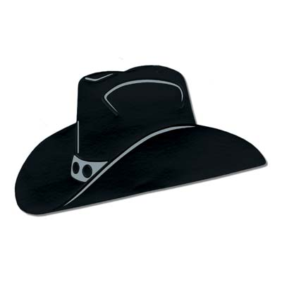 Foil Cowboy Hat Silhouette Pack Of 24