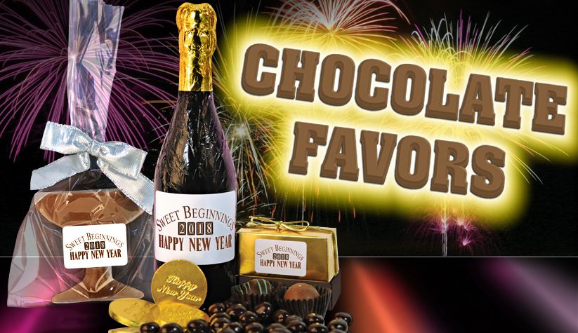 New Year's Eve Chocolate favors
