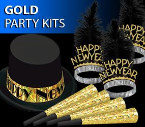 gold new years eve party kit image