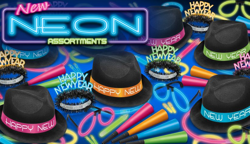 neon new year's eve party kits
