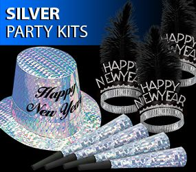 bulk silver new years eve party kits image
