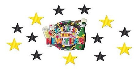 New year paper cutouts image