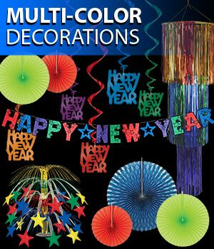 multi color new years eve decorations image