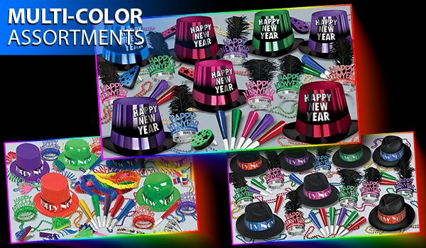 bright color new years eve party kits image