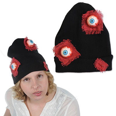 Eyeballs Knit Cap (Pack of 12) creepy, halloween, knit cap, eyeballs, gore