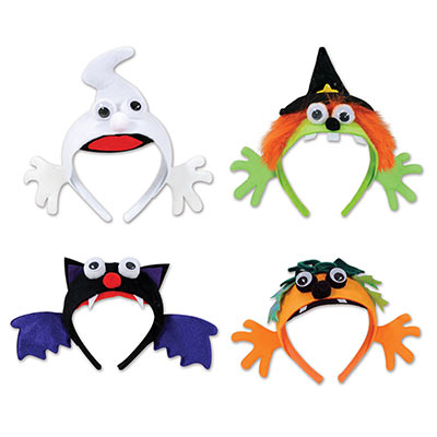 Halloween Headbands (Pack of 12) .
