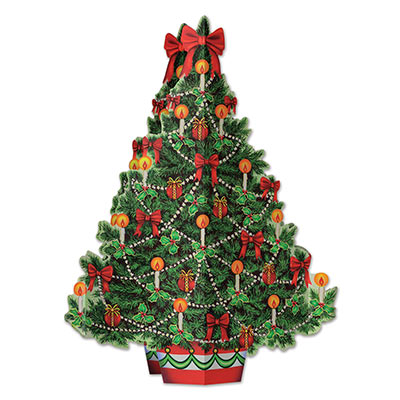 3-D Christmas Tree Centerpiece (Pack of 12) .