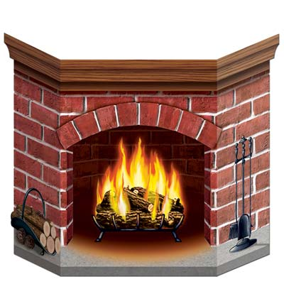Brick Fireplace Stand-Up (Pack of 6) .