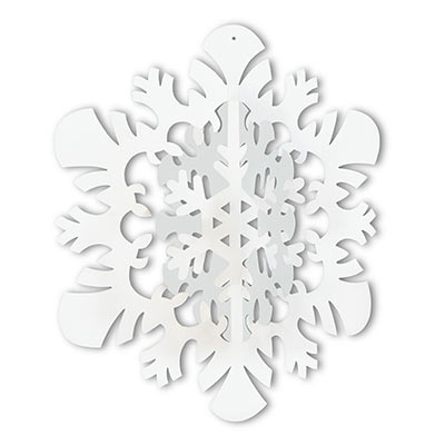 3-D Hanging Snowflake (Pack of 12) .