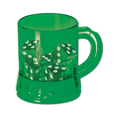 St Pats  Mug Shot  w/Dice (Pack of 12) .