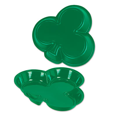 Plastic Shamrock Tray (Pack of 24) St. Patricks Day Party Favors, St. Patricks Day Decor, Serving Tray, Bulk Party Favors, Cheap Party Decorations, wholesale party decor