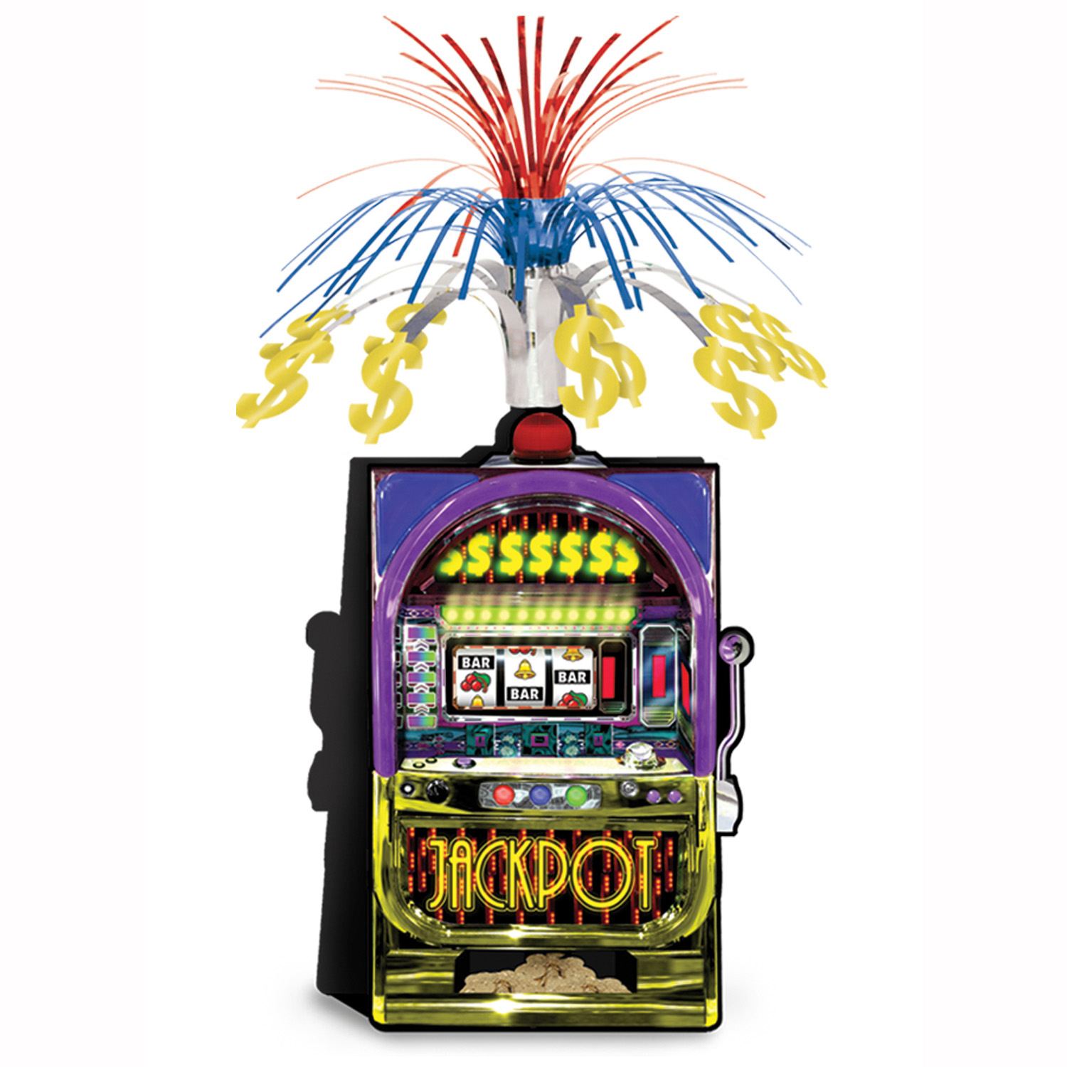 Slot Machine Centerpiece (Pack of 12) Slot Machine, Casino Centerpiece, Cascade Centerpiece, Cheap party decorations, Casino themed ideas, Tableware, New Years Eve, Birthday party ideas, Wholesale party supplies