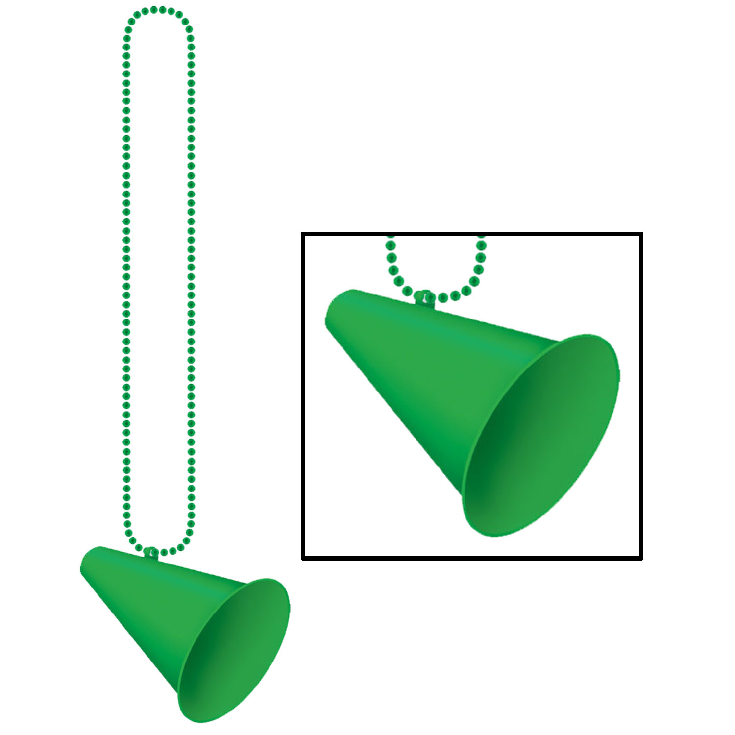 Beads w/Megaphone Medallion (Pack of 12) .