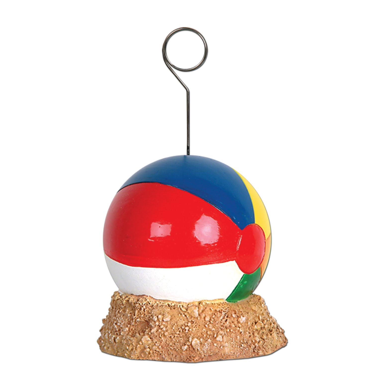 Beach Ball Photo/Balloon Holder (Pack of 6) beach, ball, photo, balloon, holder, summer, party, pack, event, pool, hotel, restaurant, casino, bar, table, decoration, centerpiece,