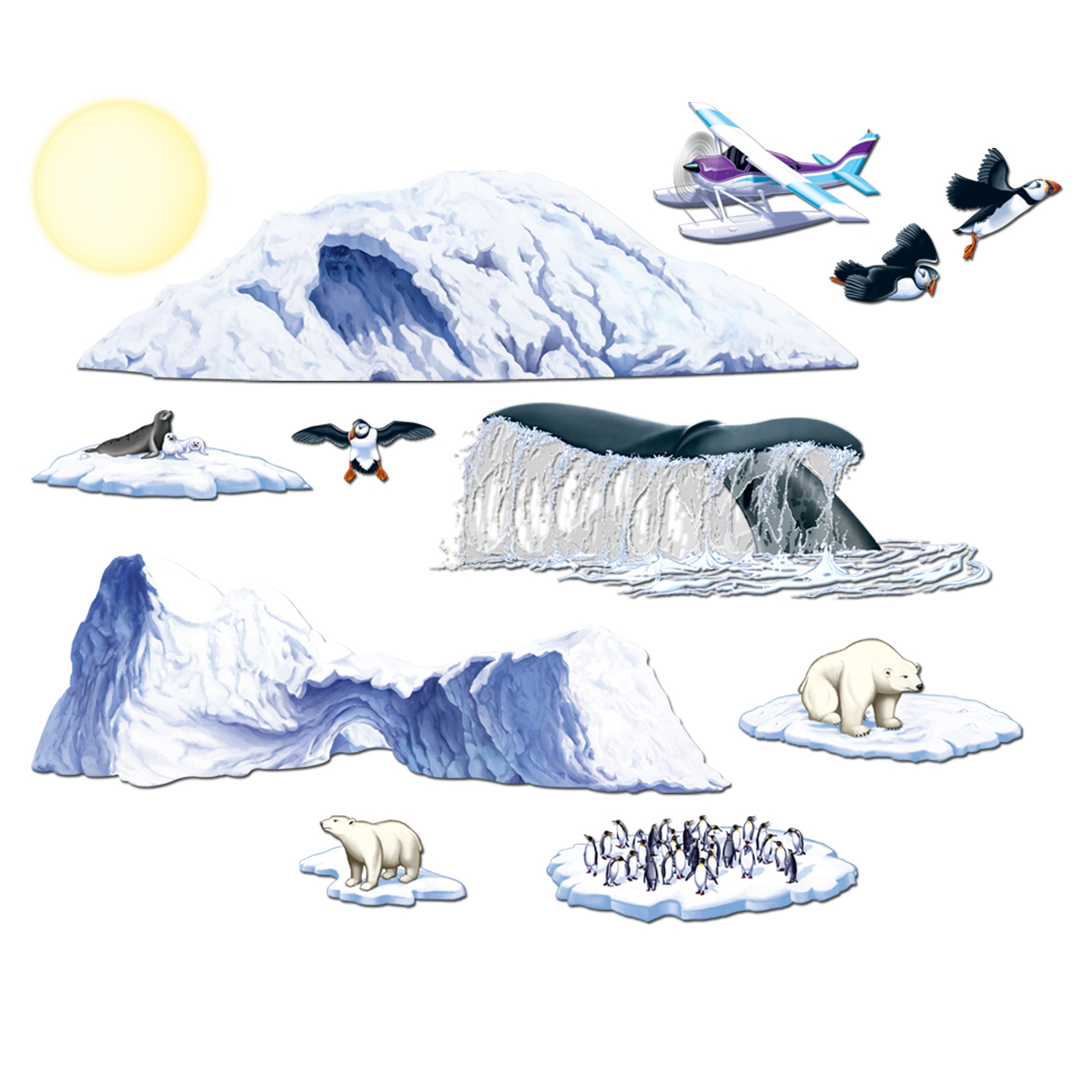 Arctic Cruise Props (Pack of 144) .