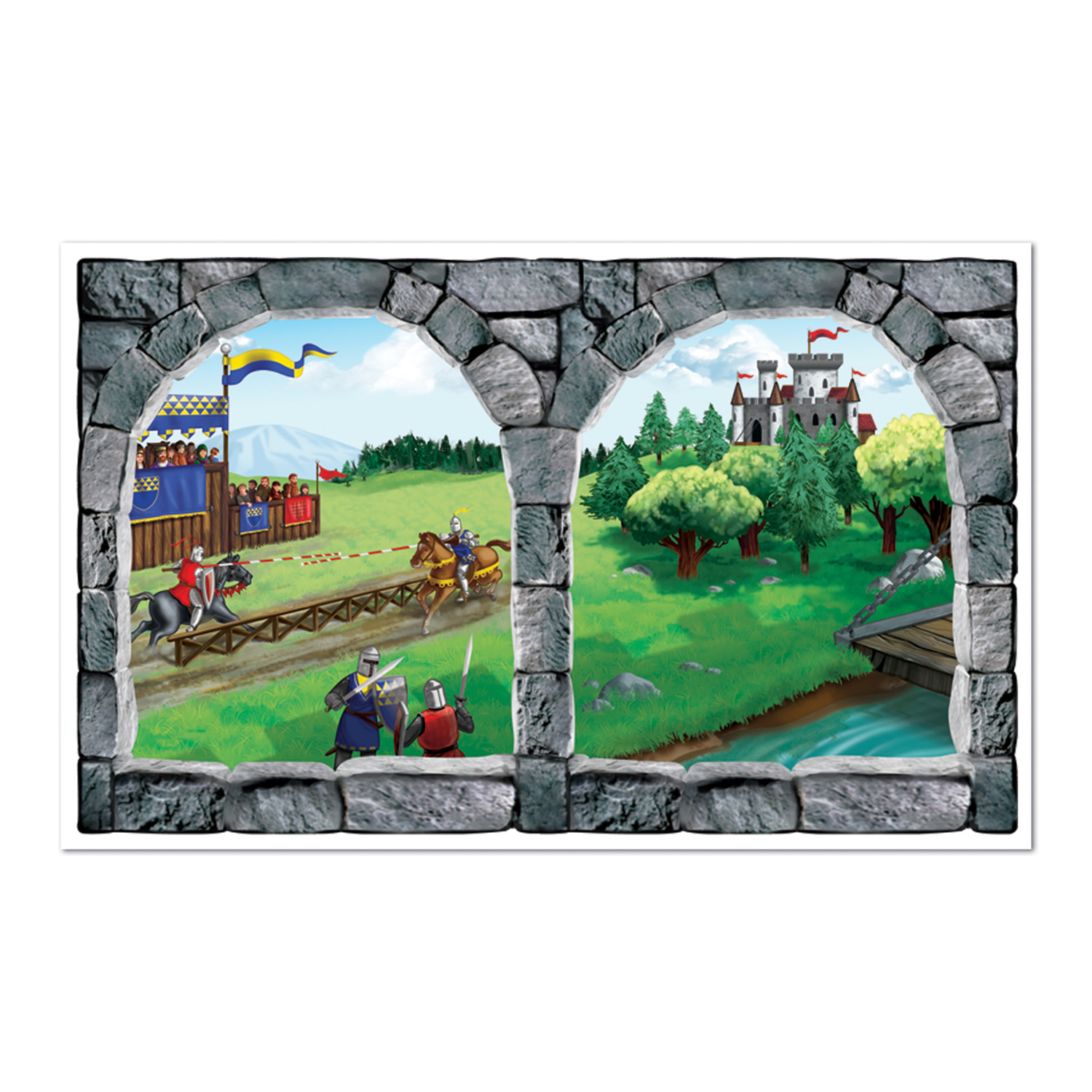 Castle Window Insta-View (Pack of 6) Medieval, fantasy, princess, kingdom, knights