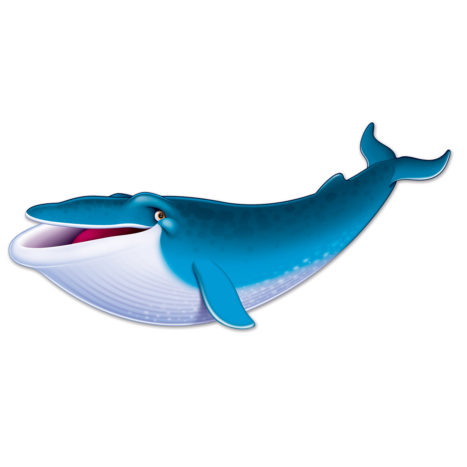 Blue Whale Cutout (Pack of 12) decoration, nautical, luau, halloween, under the sea, new years eve, inexpensive, wholesale, bulk