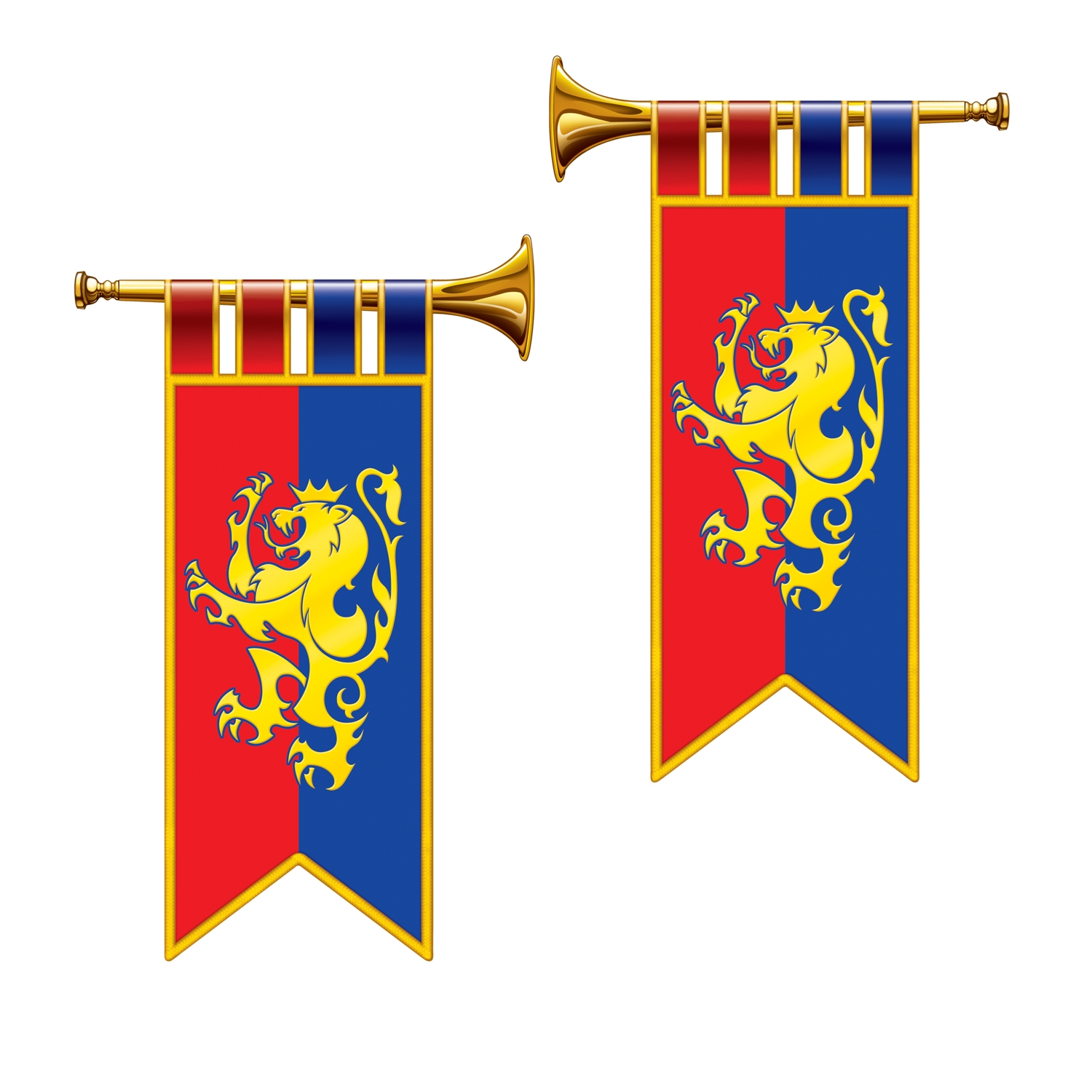 Herald Trumpet Cutouts (Pack of 24) Herald Trumpet Cutouts, decoration, medieval, trumpet, new years eve, wholesale, inexpensive, bulk