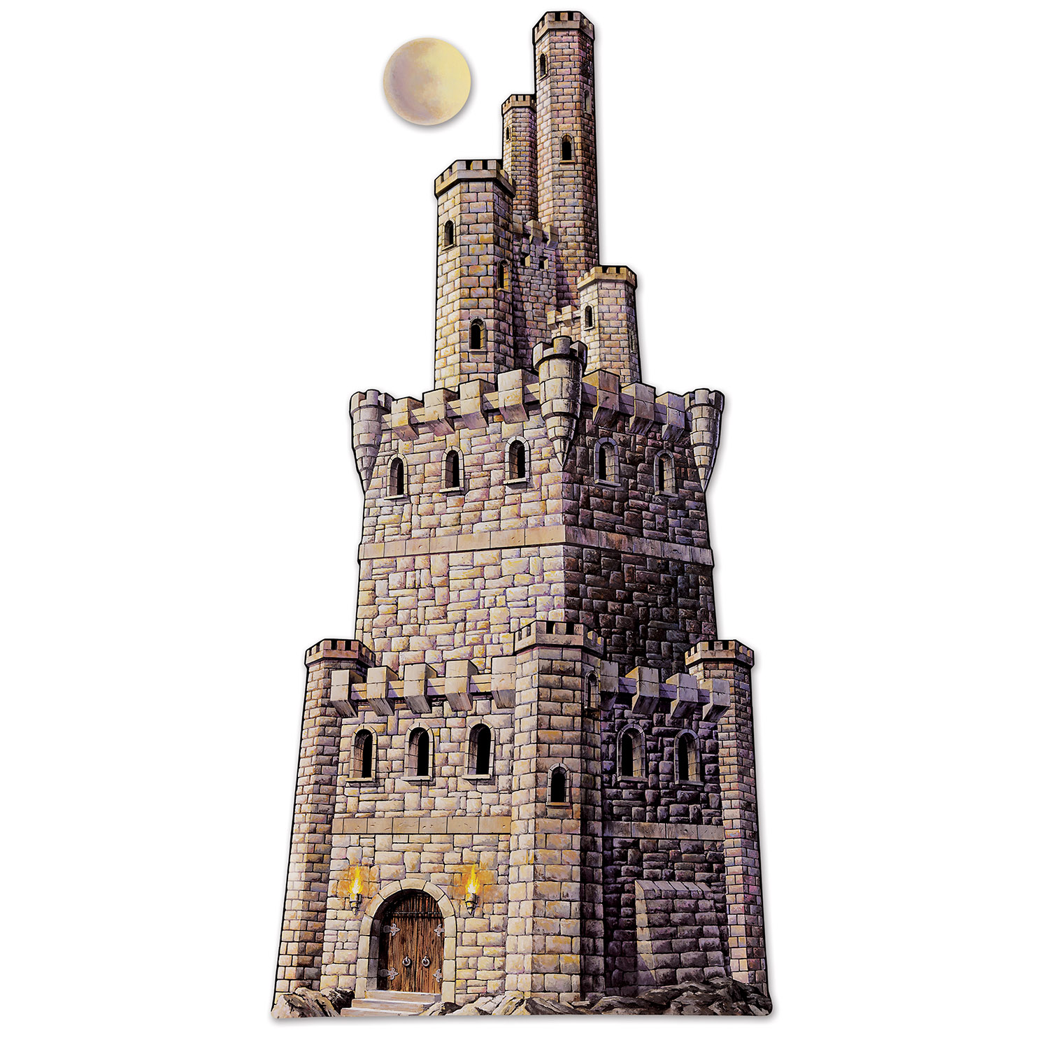 Jointed Castle Tower (Pack of 12) Castle Tower, Jointed tower, Printed castle, Fantasy decor, Cheap castle, Inexpensive party supplies, Wholesale party goods