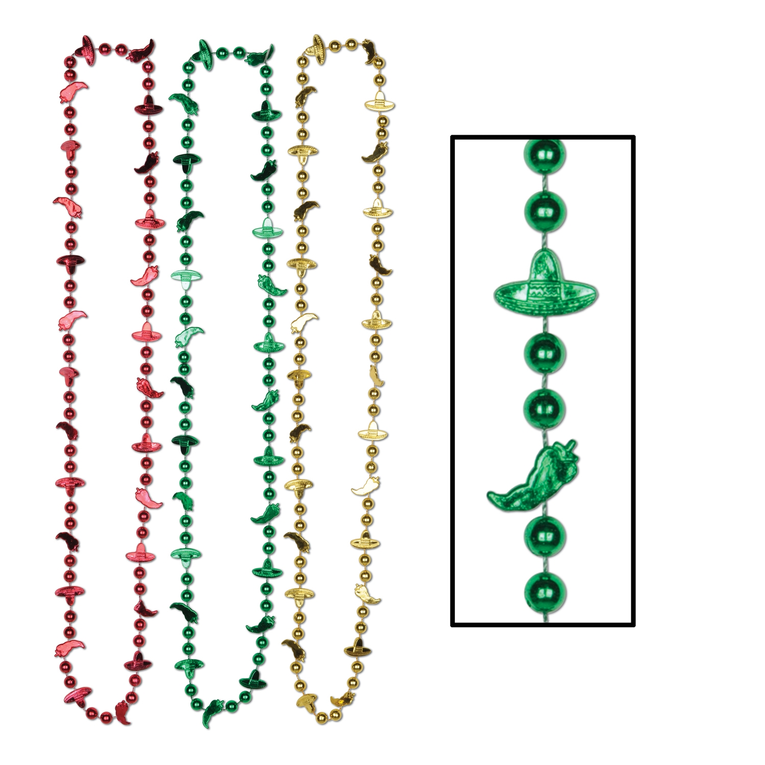 Fiesta Beads (Pack of 72) .