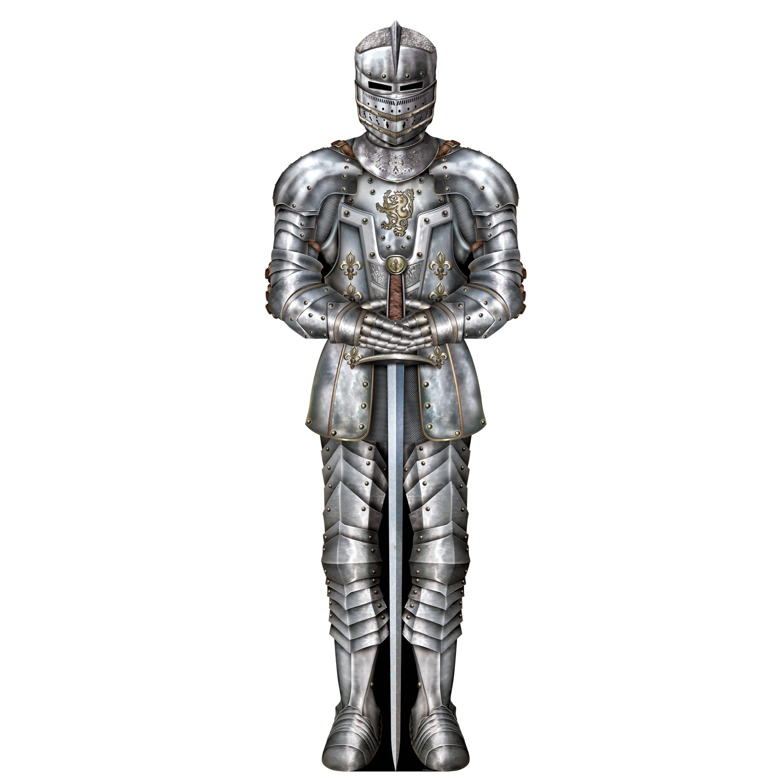 Jointed Suit Of Armor (Pack of 12) Suit of Armor, Inexpensive cutouts, Medieval Decor, Wholesale party supplies, Cheap wall decor, Medieval party ideas, Birthday theme