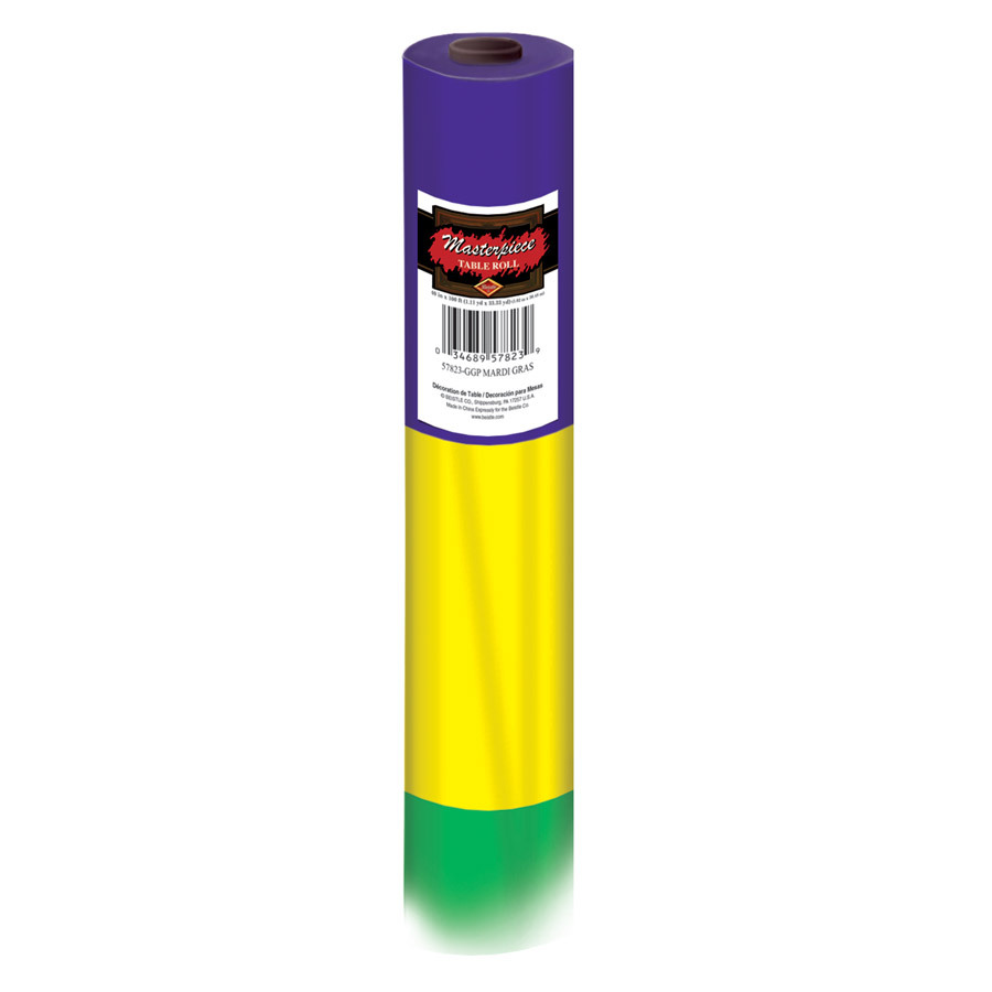 Mardi Gras Table Roll (Pack of 1) .