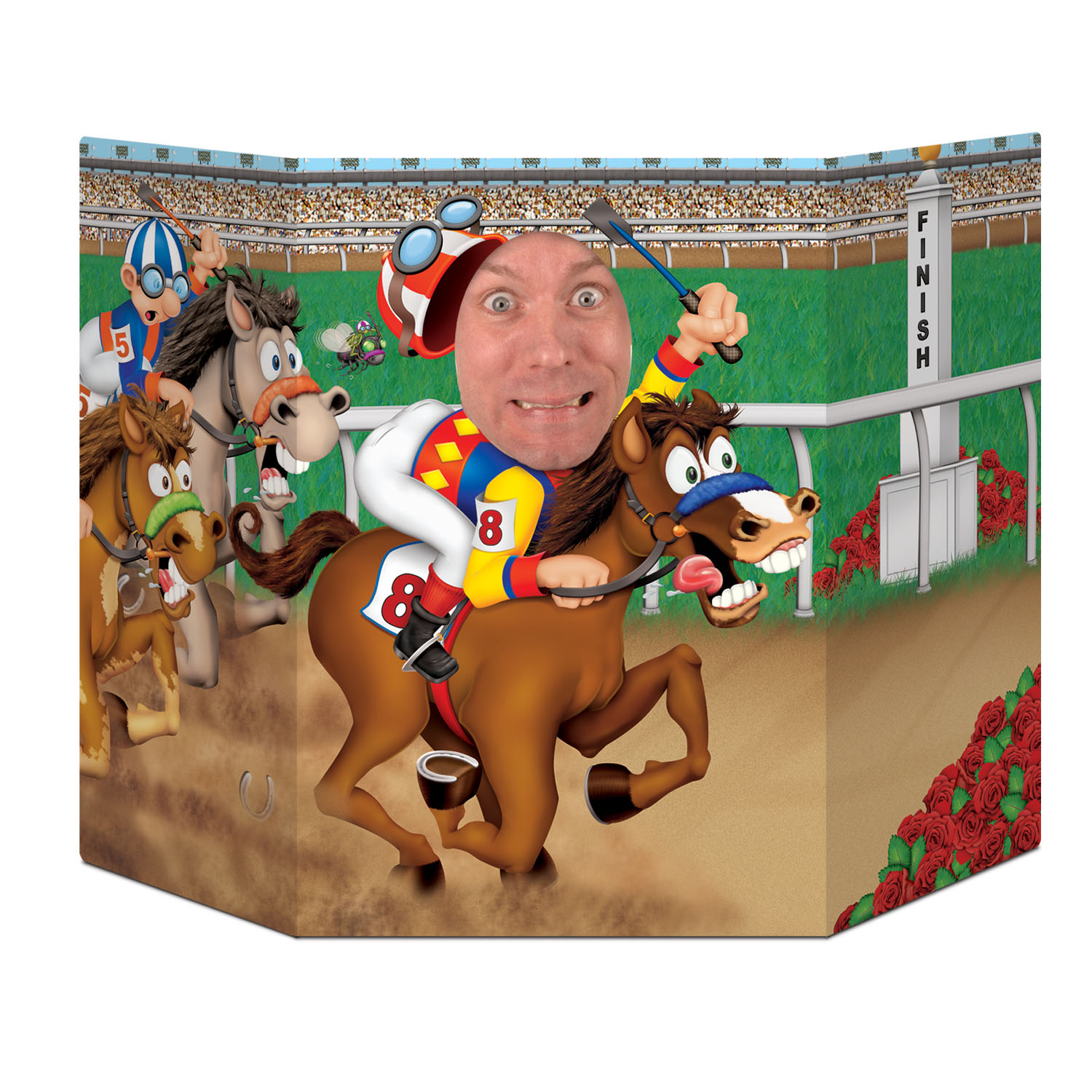 Horse Racing Photo Prop (Pack of 6) Pitures, derby day, photo prop, horses, jockeys