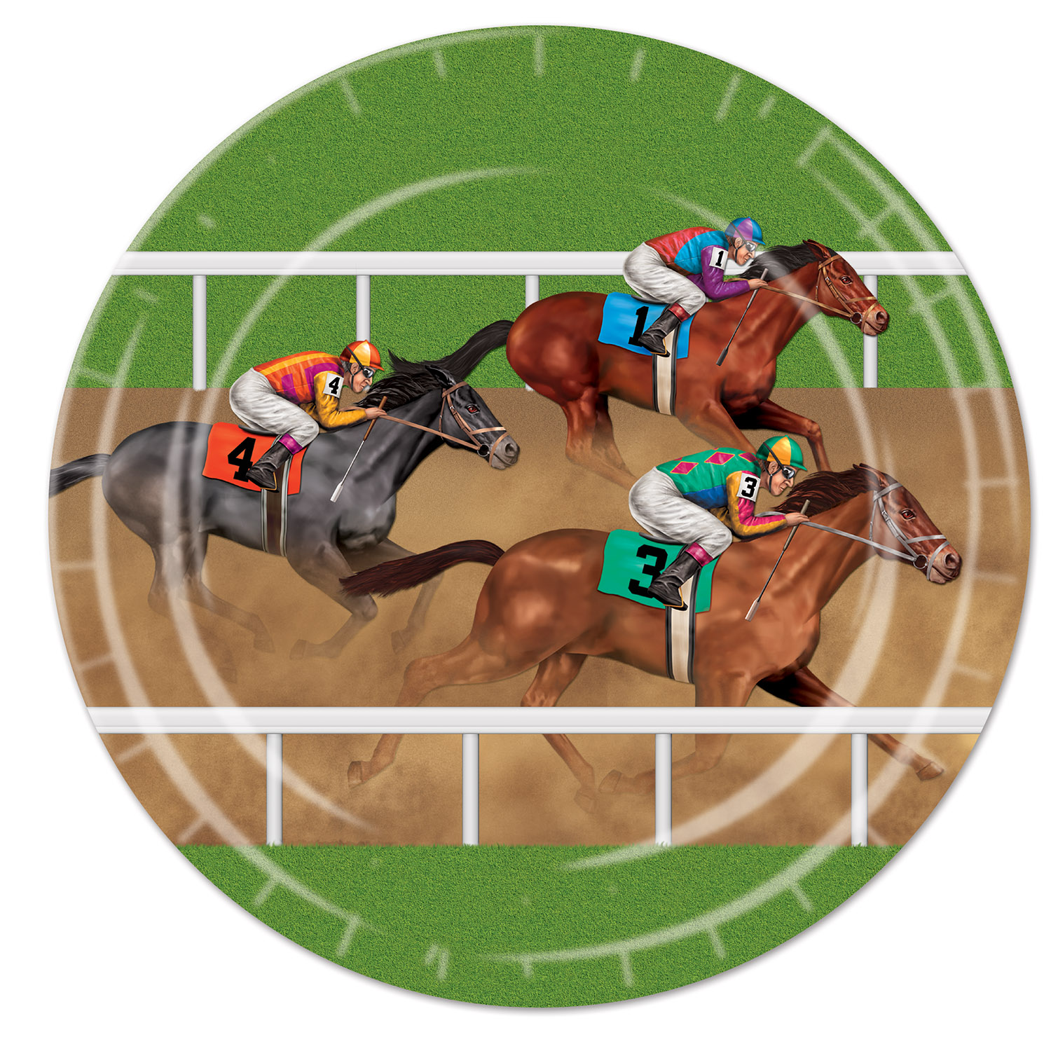 Horse Racing Plates (Pack of 96) Derby day, horse racing, sports, dinner, plates, tableware