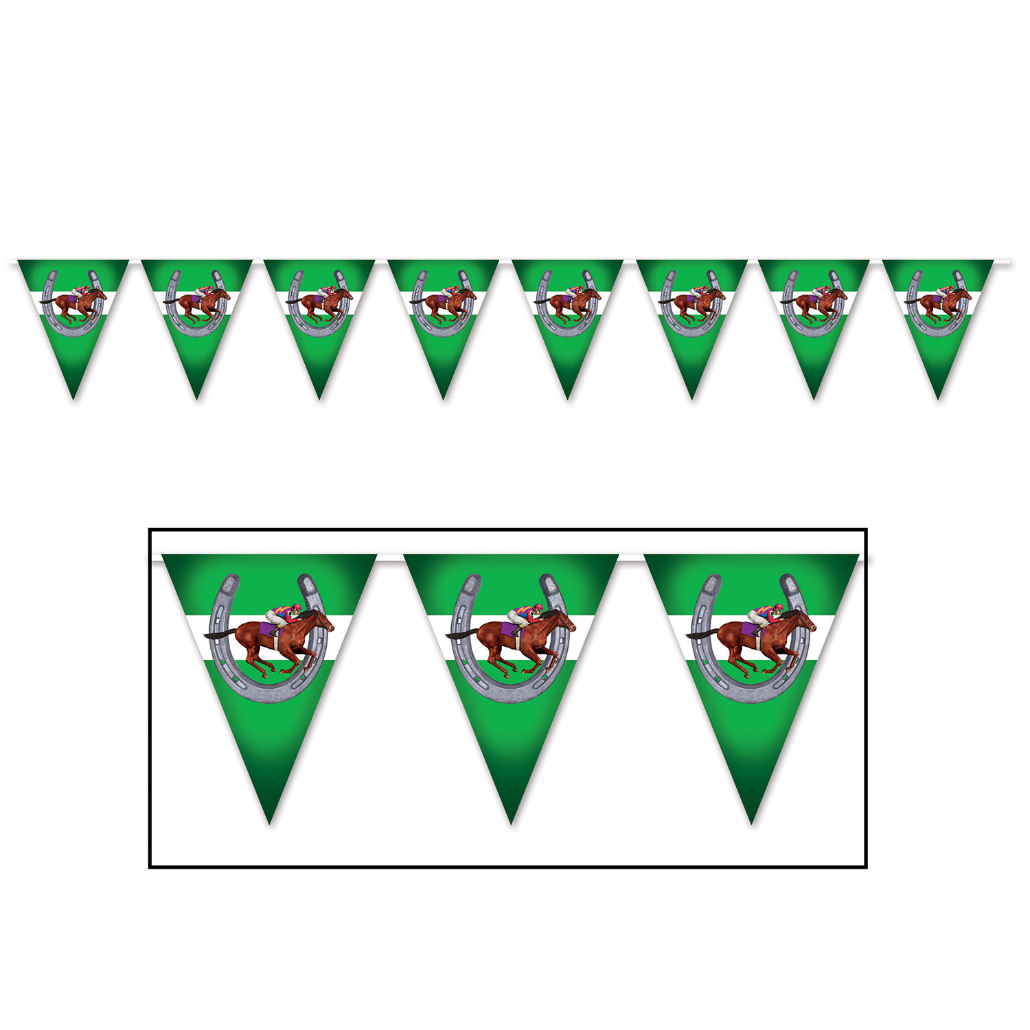 Horse Racing Pennant Banner (Pack of 12) Horse Racing Pennant Banner, derby day, new years eve, horse racing, decoration, wholesale, inexpensive, bulk