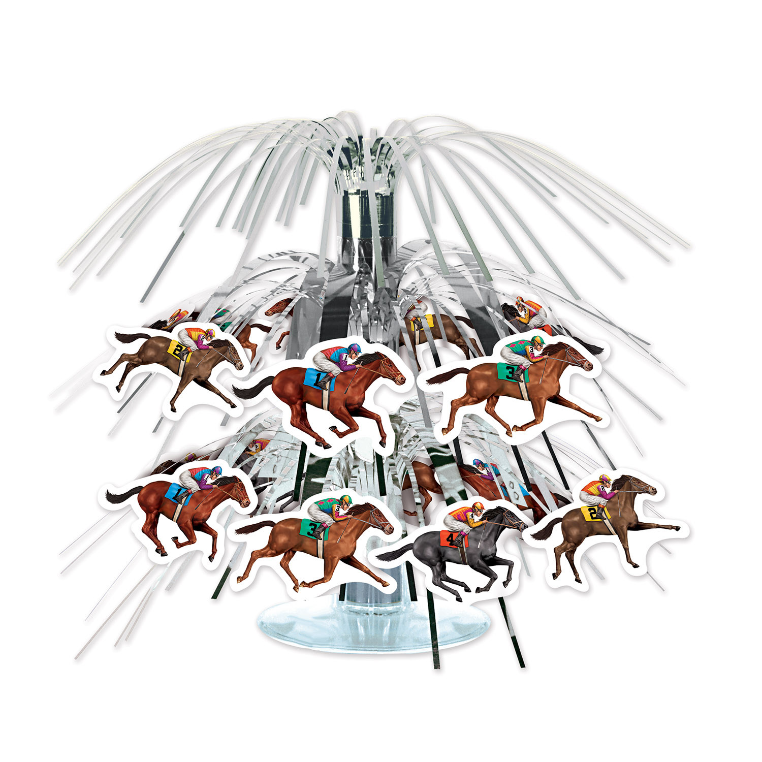 Horse Racing Mini Cascade Centerpiece (Pack of 12) Horse Racing, Mini Cascade Centerpiece, Derby Day, Table Centerpieces, Sports decorations, Inexpensive party decorations, Wholesale party supplies