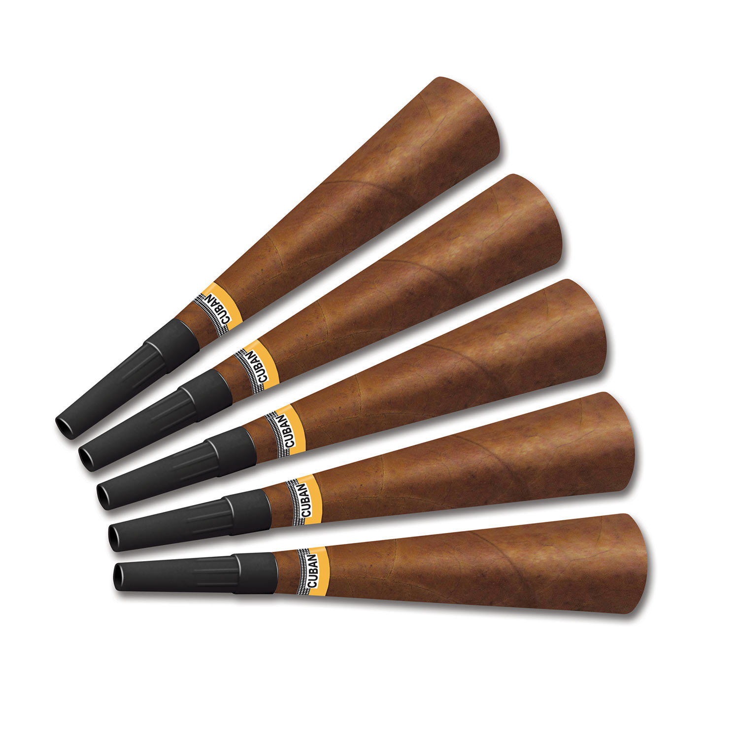 Cigar Horns (Pack of 100) Cigar Horns, party favor, new years eve, horn, wester, 20, havana, gangster, wholesale, inexpensive, bulk