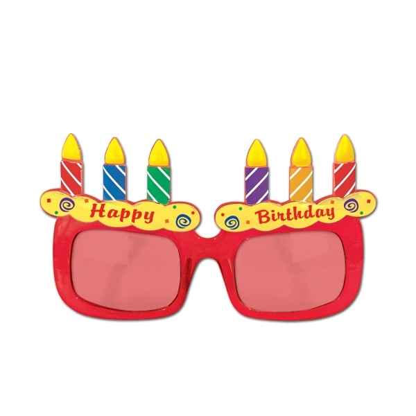 Birthday Cake Fanci-Frames (Pack of 6) Fanci-Frames, Novelty Glasses, Costume Accessories, Cheap glasses, Birthday glasses, Birthday favors, Birthday ideas, Birthday cake favors