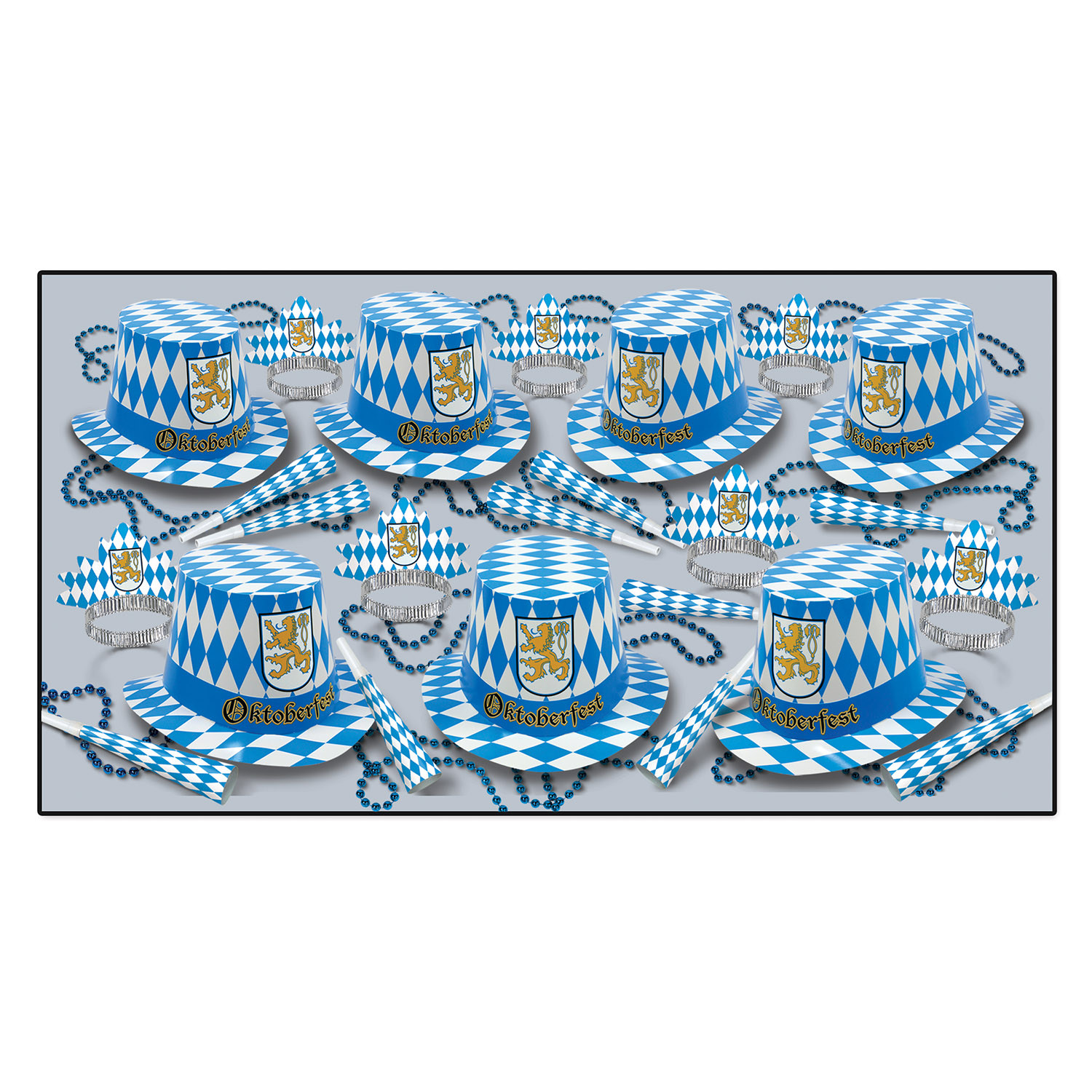 Oktoberfest Asst for 50 Oktoberfest, Party, Part kit, hats, Oktoberfest party kit