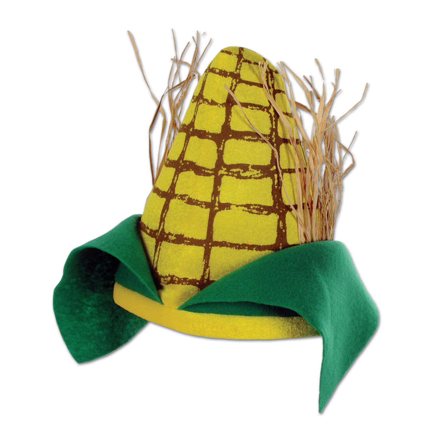 Plush Corn Cob Hat (Pack of 12) .