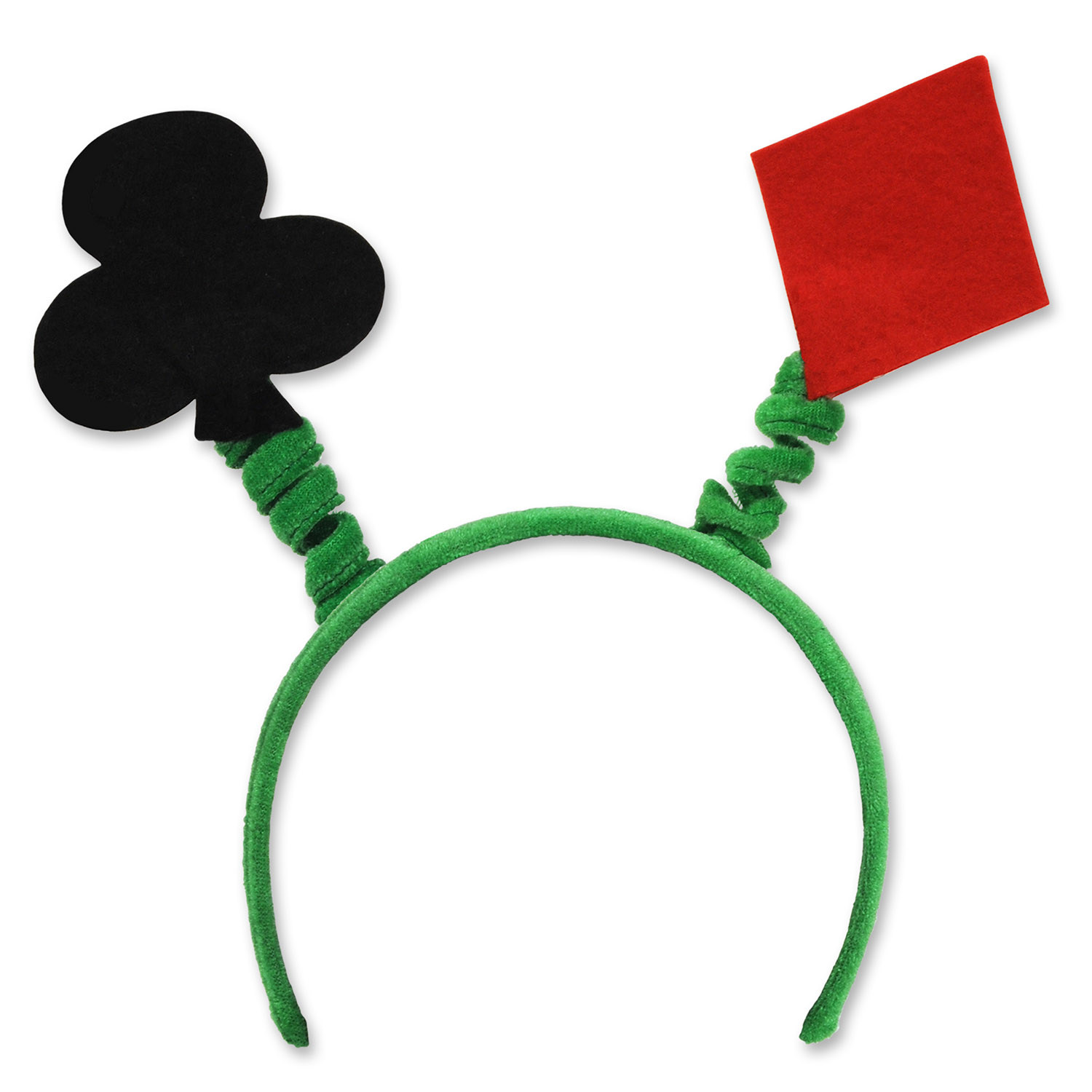 "Card ""Suit"" Boppers (Pack of 12) card, suit, boppers, casino, Las Vegas, poker, gambling, night, party, pack, headband, accessory, decoration"