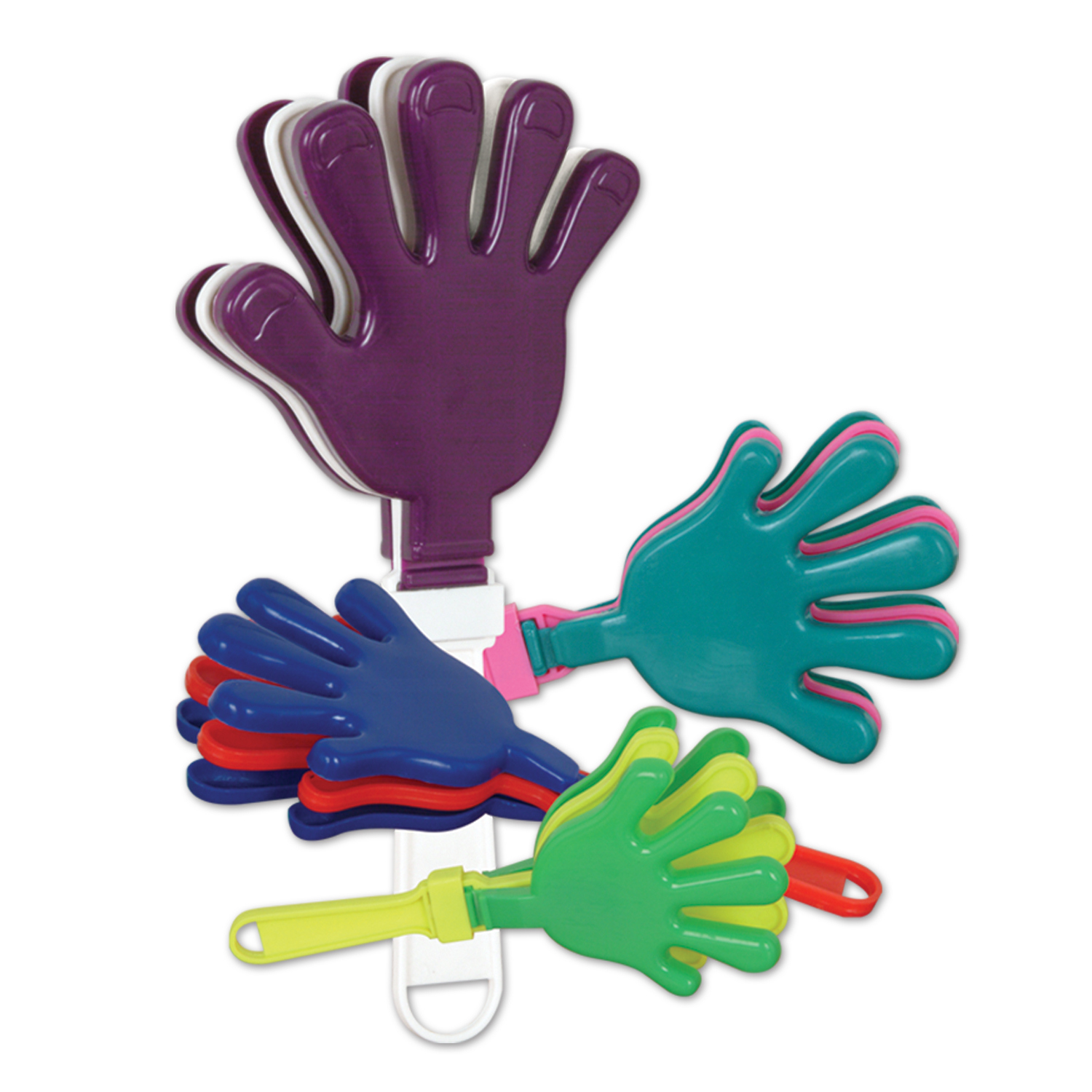 "12"" Hand Clappers (Pack of 12) 12"" Hand Clappers, Game Day, Football Clappers, Hand Clappers, Noisemakers, Cheap party favors, Sports supplies, Wholesale party supplies, Inexpensive party favors, Cheap noiseamakers, Game Day party supplies, Birthday party supplies, New Years EVe"