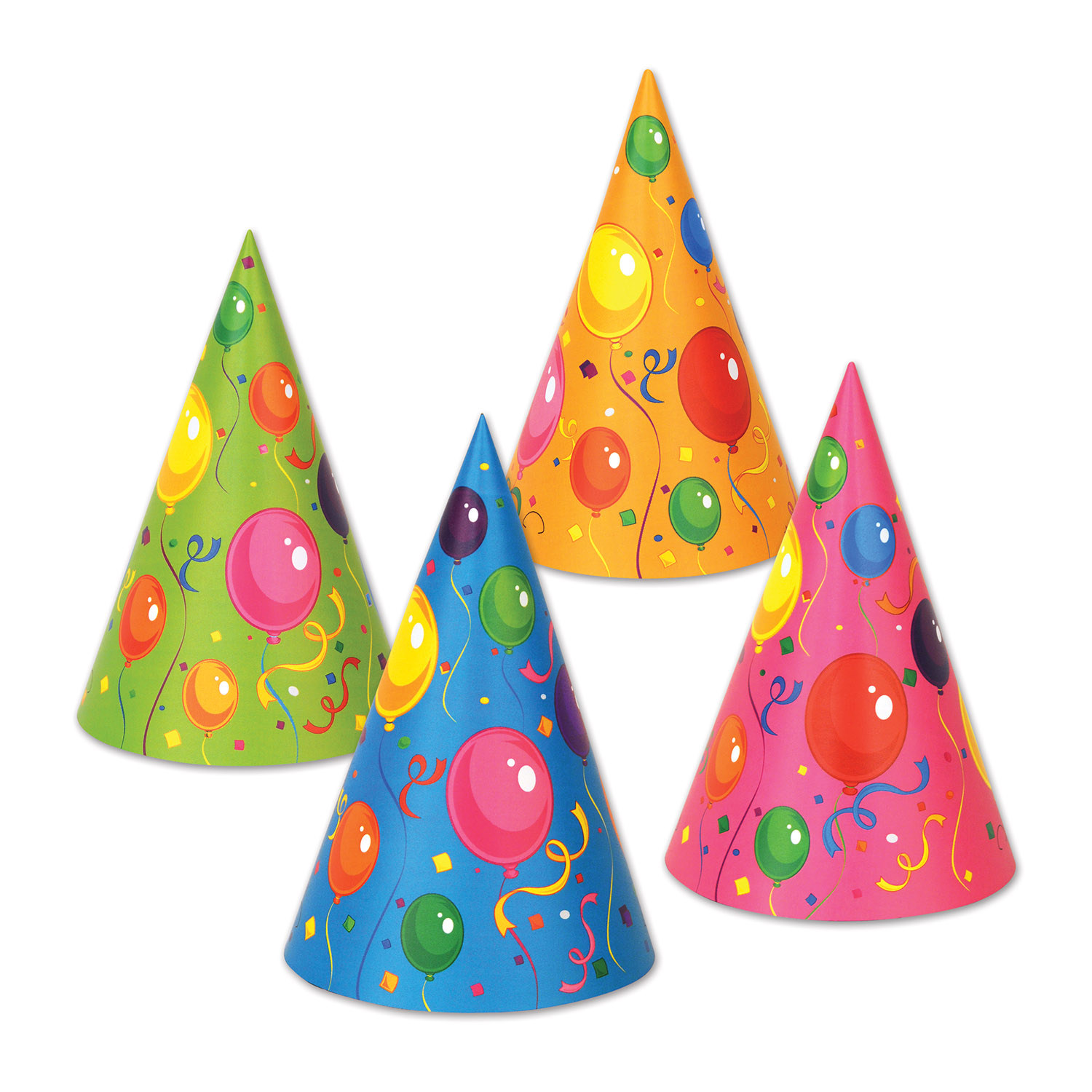 Fluorescent Cone Hats  (pack of 144) Fluorescent Cone Hats, birthday, party favor, balloons, wholesale, inexpensive, bulk