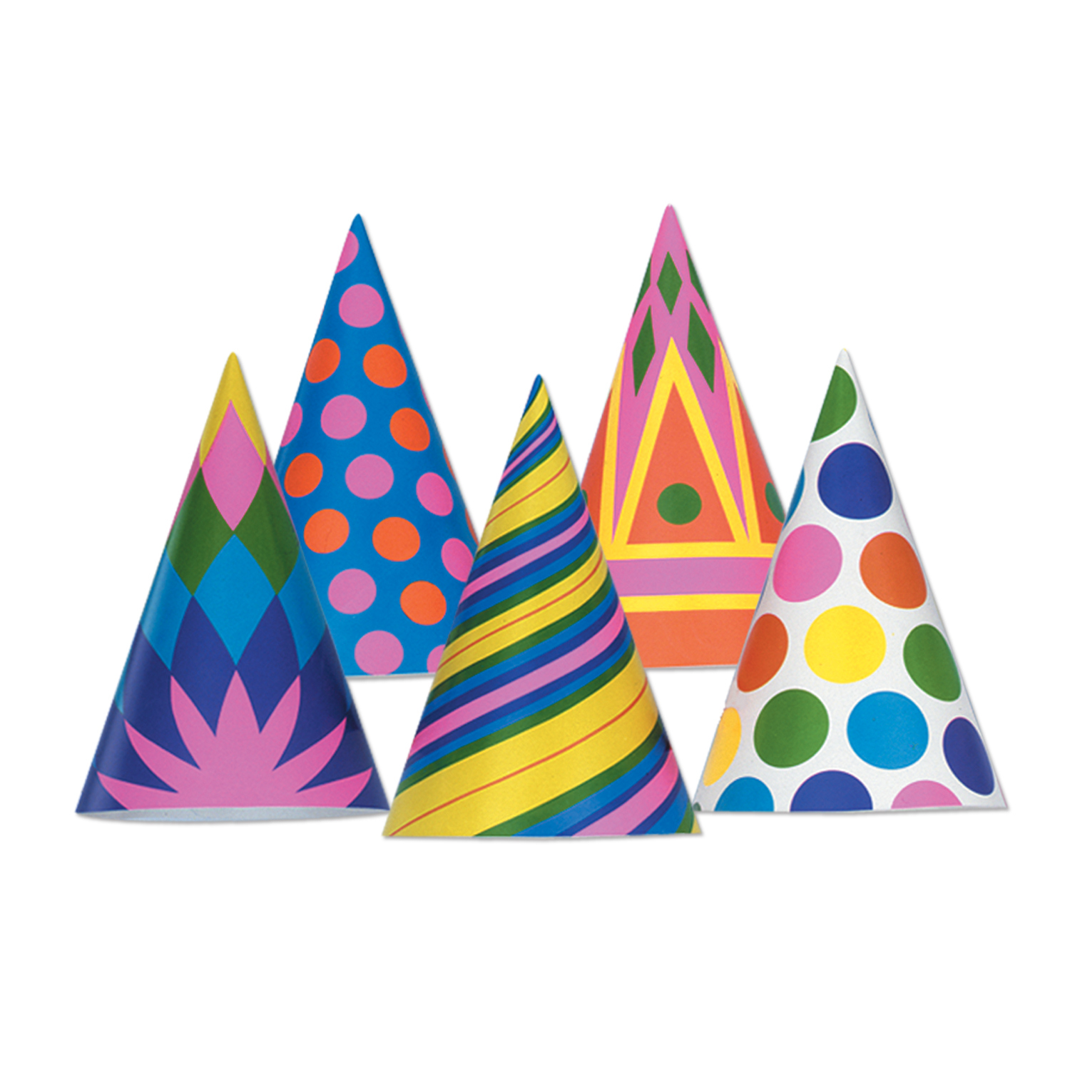 Cone Hats (pack of 144) Cone Hats, party favor, birthday, wholesale, inexpensive, bulk, hat