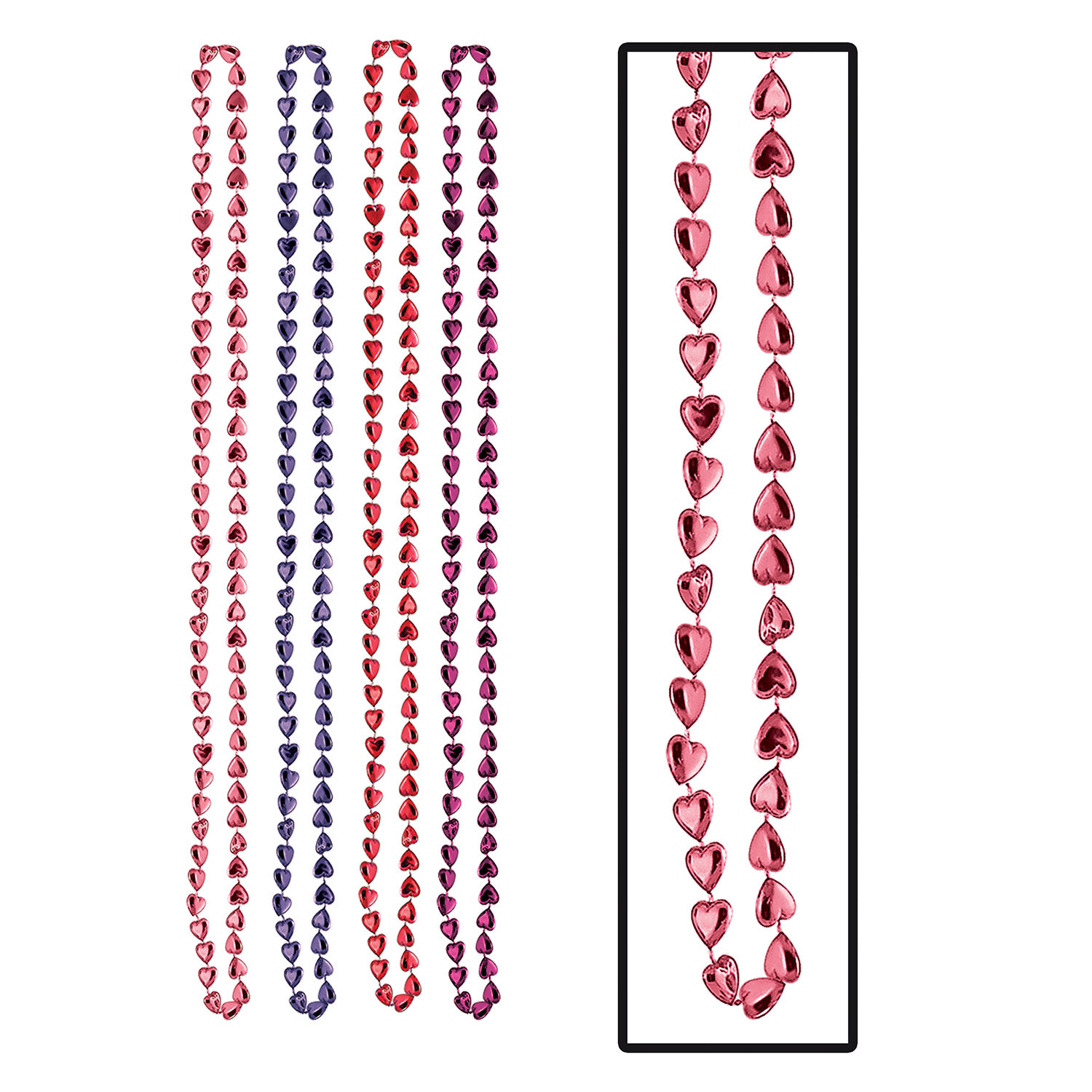 Candy Heart Beads (Pack of 48) .