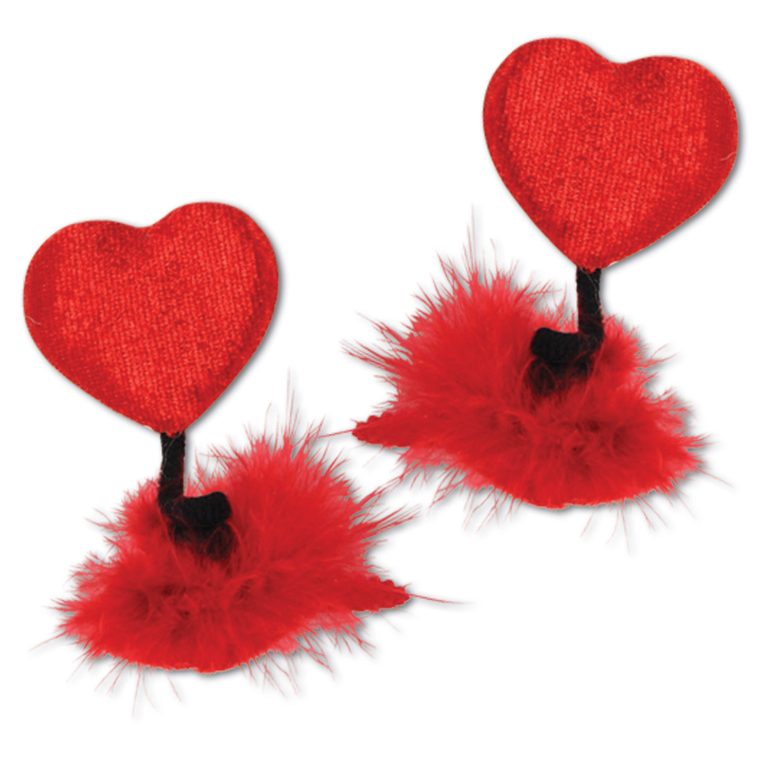 Heart Hair Clips (Pack of 12) .