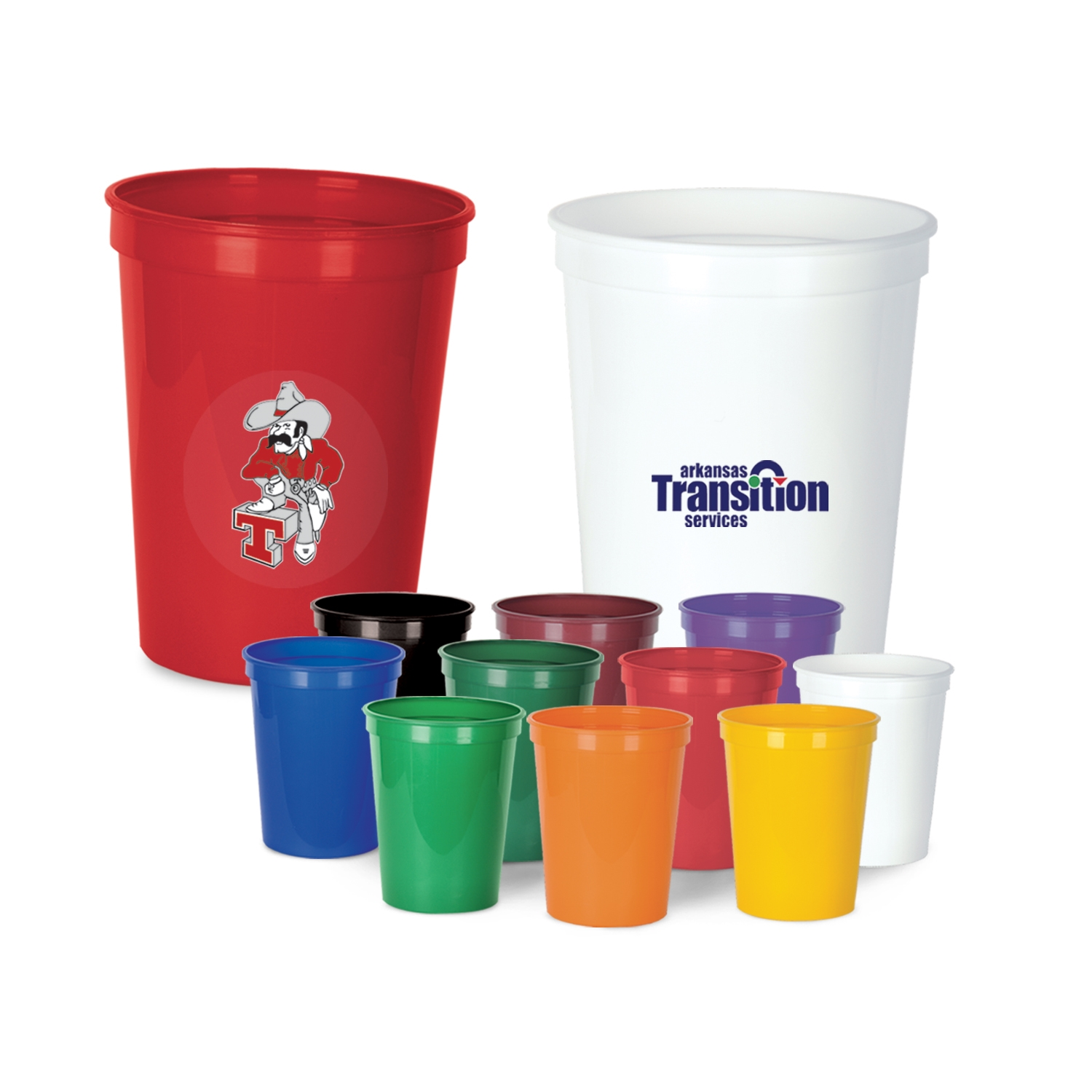 Custom Printed Plastic Cups  .