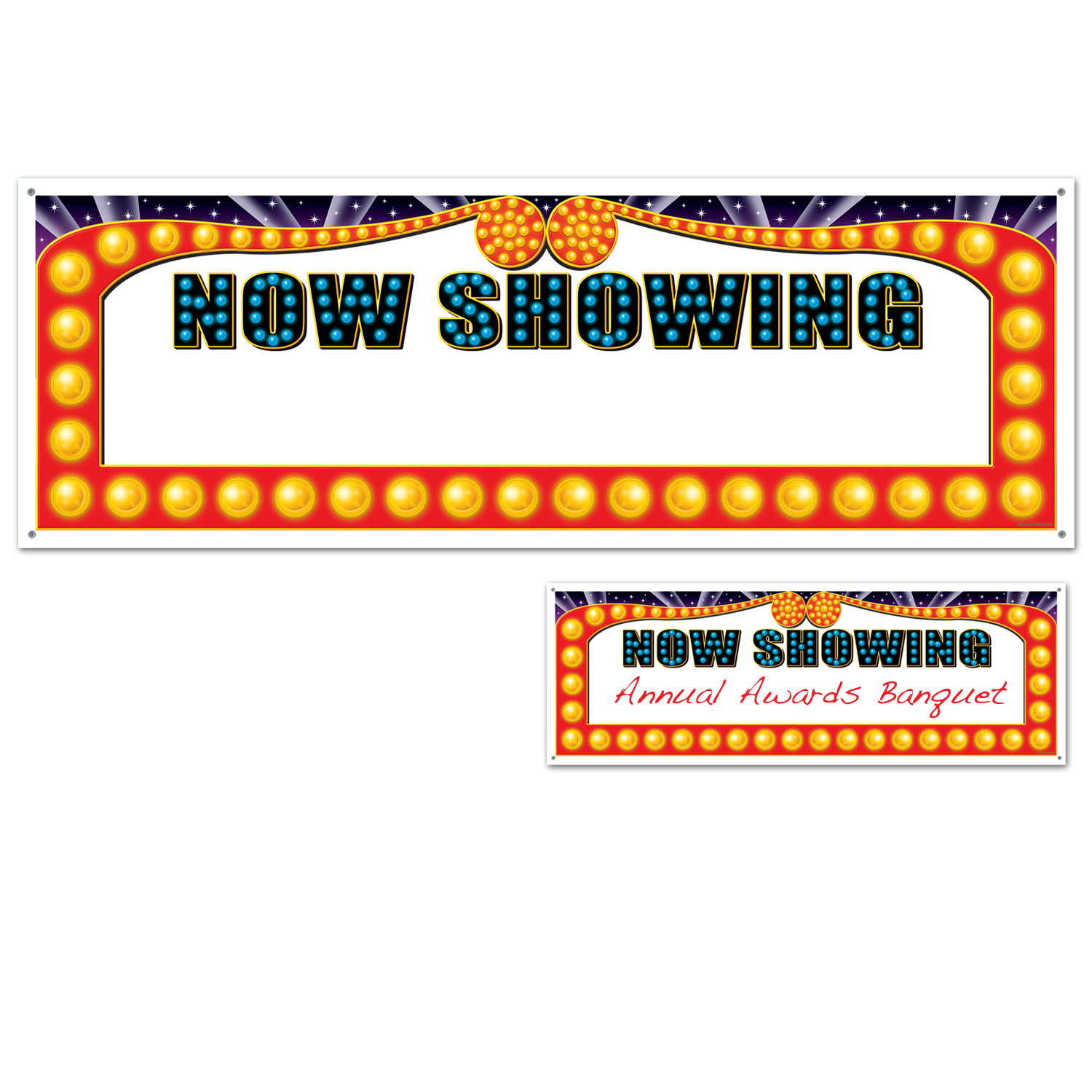 Now Showing Cinemas Sign Banner