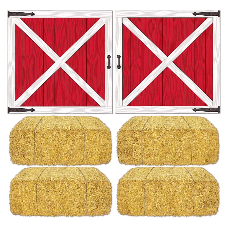 Barn Loft Door Hay Bale Props Pack Of 12