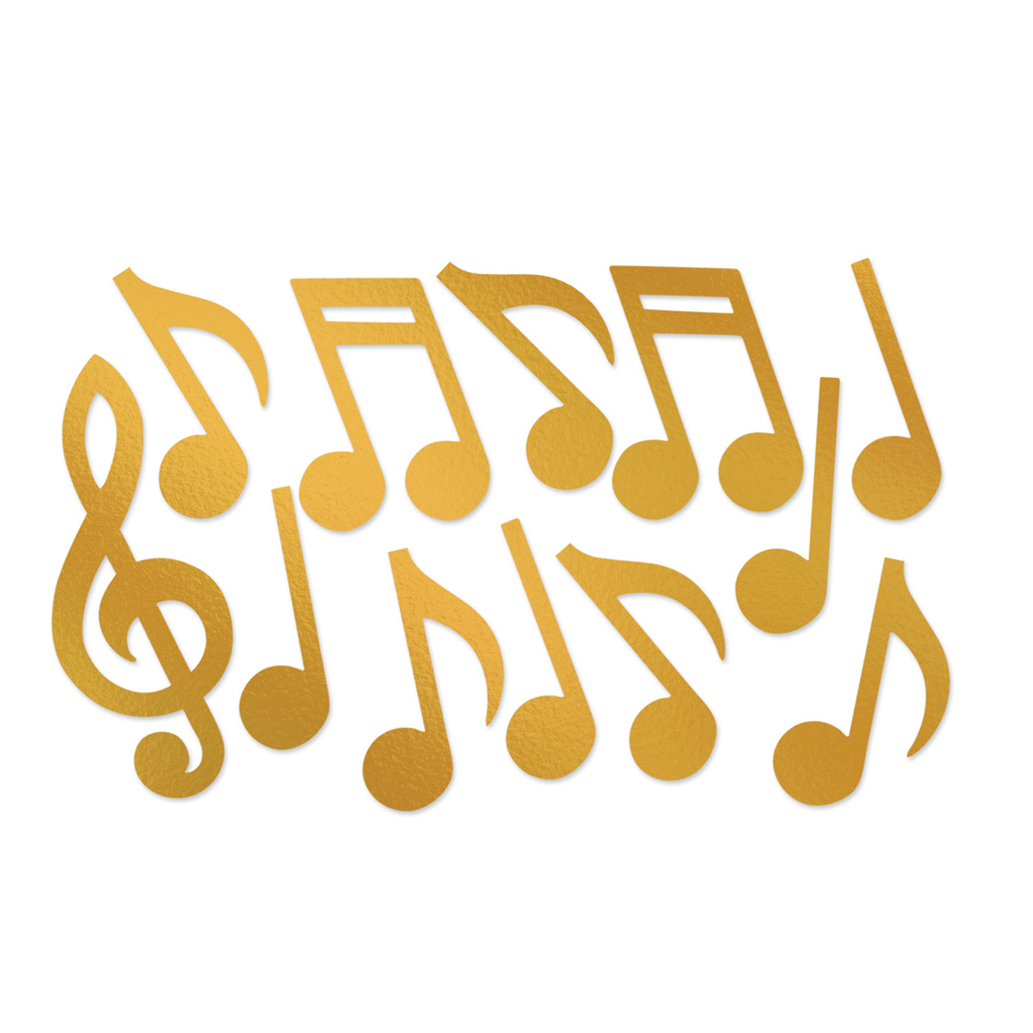 Golden Musical Note Silhouettes