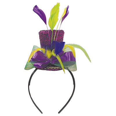 Mardi Gras Top Hat Headband (Pack of 12) c4d7d6df652e