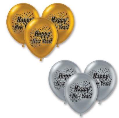 Happy New Year Balloons 101