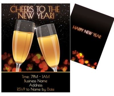 custom new years eve invitations