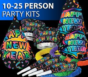 10-25 Person New Year's Eve Party Kits
