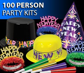 100 person bulk new years eve party kits image